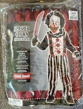 Boys Slasher Clown Halloween Costume Size Small 4-6 Lightly Used