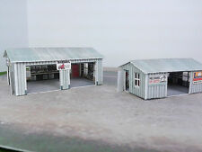 N Scale Buildings - (2) Workshop Sheds  Pre-Cut Cardstock kit set