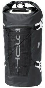 Held wasserdichte Motorrad Gepäckrolle Roll-Bag Hecktasche schwarz/weiß 40Liter