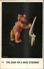 Charles Twlevetrees Teddy Fantasy c1910 Postcard Dark Stairway