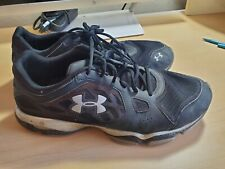 Under Armour Mens Size 11.5 Athletic Running Tennis Shoes Color Black (used)