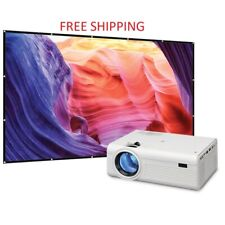 "✅Movie Projector Outdoor Home Bundle 120"" Screen USB HDMI Sports Movie TV Games✅"
