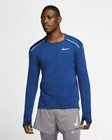 Nike Therma Sphere Element 3.0 Running Top Sz S Obsidian/Heather BV4707-451 NEW