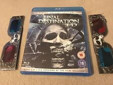 2009 The Final Destination in 3.D 2 Disk UK Region B Blu-Ray with Glasses L@@K
