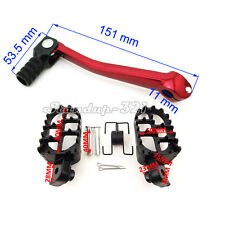 Aluminum FootPegs Gear Shift Lever For 50cc 110cc 125cc SSR Thumpstar Pit Pro