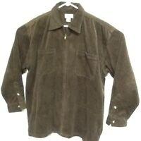 County Seat Men's Vintage Corduroy Jacket Full Zip Pockets Chocolate Brown Sz L
