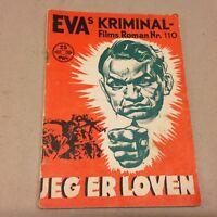 "I Am the Law Robinson O'Neil Beal 1939 Danish Movie Novel ""EVAs Kriminal Films"""