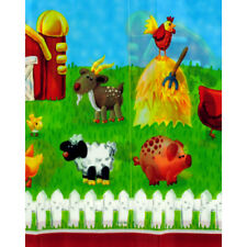 BARNYARD On the Farm PLASTIC TABLE COVER ~ Birthday Party Supplies Decorations