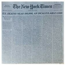 NEW YORK TIMES NEWSPAPER MAY 24, 2020 US NEAR 100,000 DEATHS