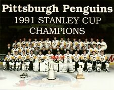 PITTSBURGH PENGUINS 1990/91 STANLEY CUP CHAMPS TEAM COLOR 8X10