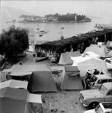 STRESA c. 1960 - Autos Camping  Isola Bella  Italie - Négatif 6 x 6 - ITAL 434
