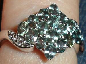 Super Rare Natural Tunduru Colour Change Sapphire & Topaz Silver 1.86ct