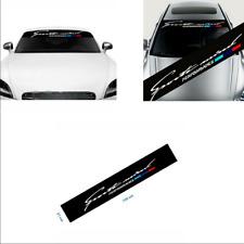 Car Windscreen Sunshade Sticker 21x130cm Universal Black Self-sticking Vinyl
