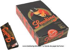 Caja de 25 libritos de papel de fumar Smoking de luxe.  Rolling paper cartine.