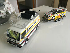 Audi Rallye Set-Sport Quattro S1-W.Röhrl+LT Van+Trailer--1:18--OTTO Mobile OT276