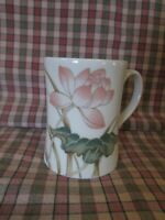 Cottagecore 1980 Fitz and Floyd Lotus Garden Coffee Cup Tea Mug Japan Dragonfly