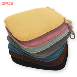 Non Slip Seat Cushion Thicken Chair Solid With Ties Sofa Corduroy Pad