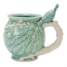 Boston Warehouse Stoneware Peacock Coffee Mug