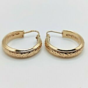 Vintage Arezzo Italy 18ct Gold Earrings - 2g