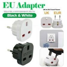 NEW UK to EU Europe Power Adaptor Plug Converter Travel Adapter European 2 Pin