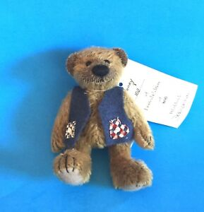 "DEB CANHAM ARTIST DESIGNED BIGGER BEARS ""HENRY AND HARRIET"" MOHAIR - 5"""