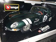 🇬🇧1:18 Rare Metallic Green Jaguar E Type Coupe Classic Race Car 1:18 🇬🇧