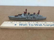 "Tootsietoy Die Cast Cruiser; Navy Ship, Ex+, Gray & Red, 5 5/8"" Vintage Toy"
