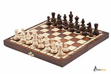 OLIMPIC WOODEN CHESS SET!! STAUNTON DESIGN CHESSMEN HORNBEAM WOOD!!!