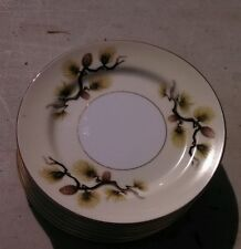NARUMI CHINA JAPAN SHASTA PINE (cones/needles) 8 dessert plates