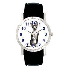 Cornish Rex Cat Mens Ladies Water Resistant Genuine Leather Wrist Watch SA2473