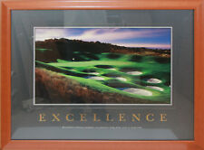"Motivational poster ""Excellence"" Framed Art"