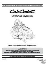 Cub Cadet Operators Manual Model No. GT 2542