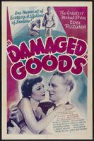 Damaged goods Douglas Walton vintage movie poster print