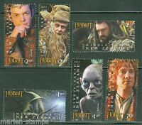 NEW ZEALAND  HOBBIT  2012 AN UNEXPECTED JOURNEY SET OF SIX STAMPS  MINT NH