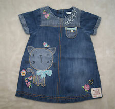 Denim Embroidered Dresses (0-24 Months) for Girls