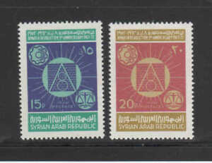 SYRIA #608-609  1972 MARCH 8TH REVOLUTION 9TH ANNIV.    MINT VF NH O.G