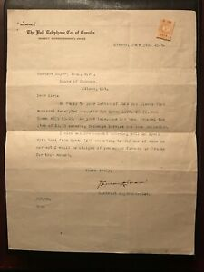 VERY RARE Vintage 1914 Bell telephone Co. Letterhead with stamp, signed