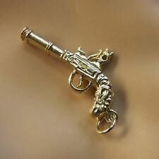 9 Ct Oro Nuovo solido Flintlock Pistol Charm