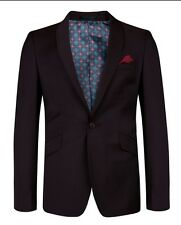 NWOT Ted Baker Endurance Mens Purple One Button Sport Coat Blazer Jacket 38R