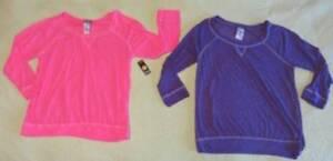 NEW Joe Boxer LOT Pink Purple Lightweight Sleep Shirt Sz XL Jammies Junior?