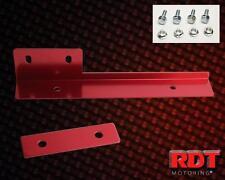 RED Aluminum License Plate Relocate Bracket ECLIPSE TALON EVO 8 9 MX5 RX7 RX8