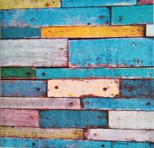 Paper Napkins,4 for Decoupage, Vintage Wood. Papel de servilletas decoupage 4und