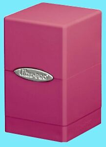 ULTRA PRO SATIN TOWER BRIGHT PINK DECK BOX New Card Dice Compartment Storage MTG
