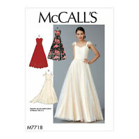 McCall's 7718 Sewing Pattern to MAKE Close-Fit Bridal Evening Dress in Cup Sizes