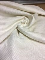 LAURA ASHLEY CREAM CHENILLE UPHOLSTERY FABRIC 1 METRES