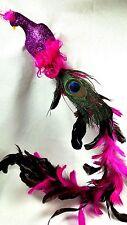 "HOT PINK 22"" Peacock Feather Bird Christmas Ornament Wedding Decor Cake Topper"