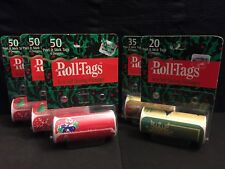 205 Christmas Gift Peel & Stick Roll Tags - (8) Different Designs