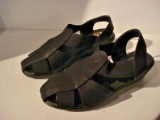 Spot On Black Faux Leather Wedge Sandals. New With Box Size UK 5 EU 38.