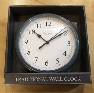 Mayfair & Co. Traditional Wall Clock Grey 22cm