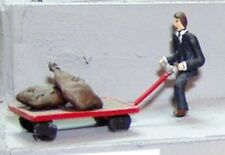 OO/HO Painted Porter + mail trolley & mailbags P&D Marsh PDZ10 free post F1